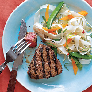 Grilled Miso-Marinated Filet Mignon