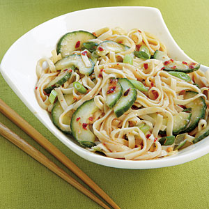 Spicy Pasta Cucumber Salad
