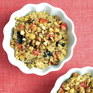 Quinoa and Pistachio Salad with Moroccan Pesto