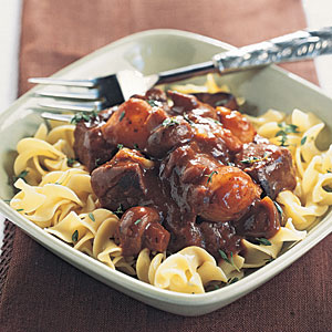 Beef Burgundy with Egg Noodles