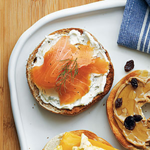 Cream Cheese and Smoked Salmon Bagel