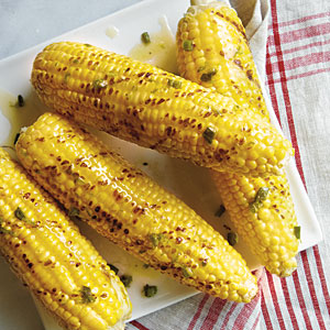 Grilled Corn on the Cob with Roasted Jalapeno Butter