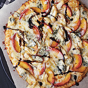 Peach and Gorgonzola Chicken Pizza