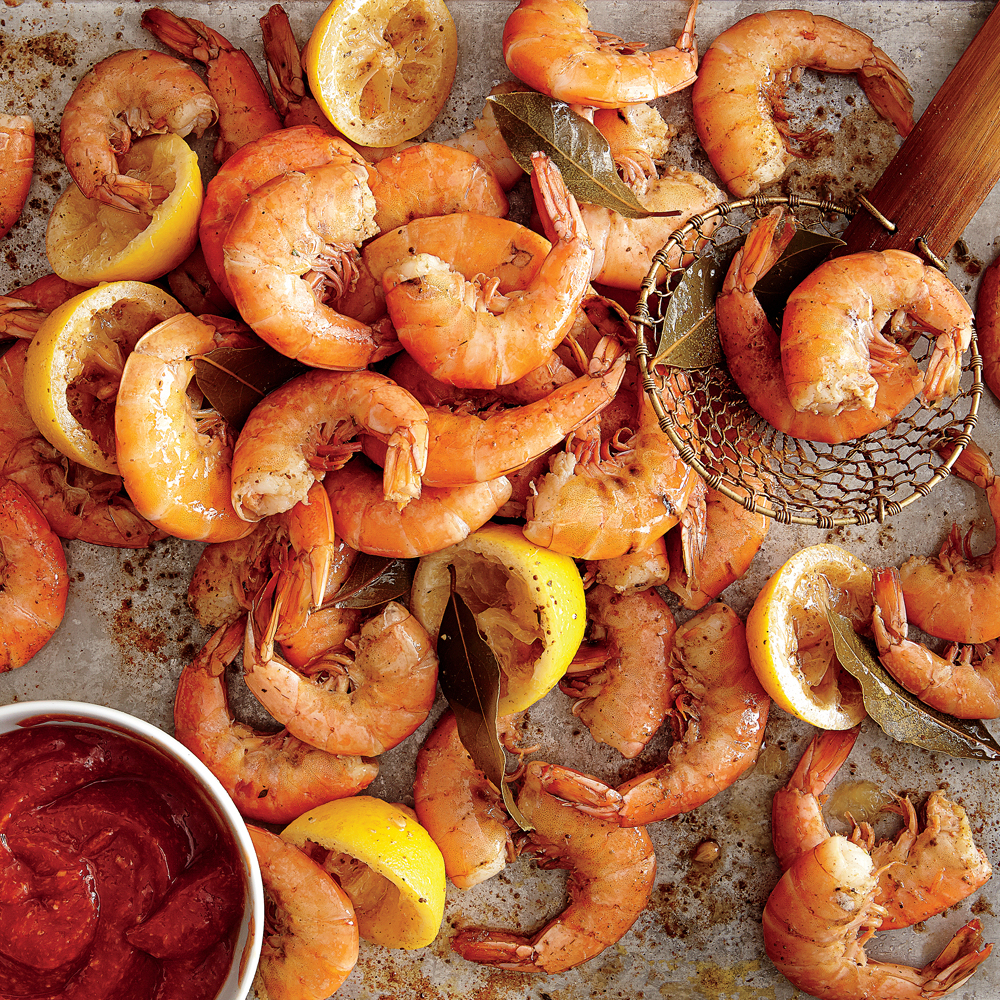 Get the original recipe for our Boiled Shrimp with Tangy Cocktail Sauce.