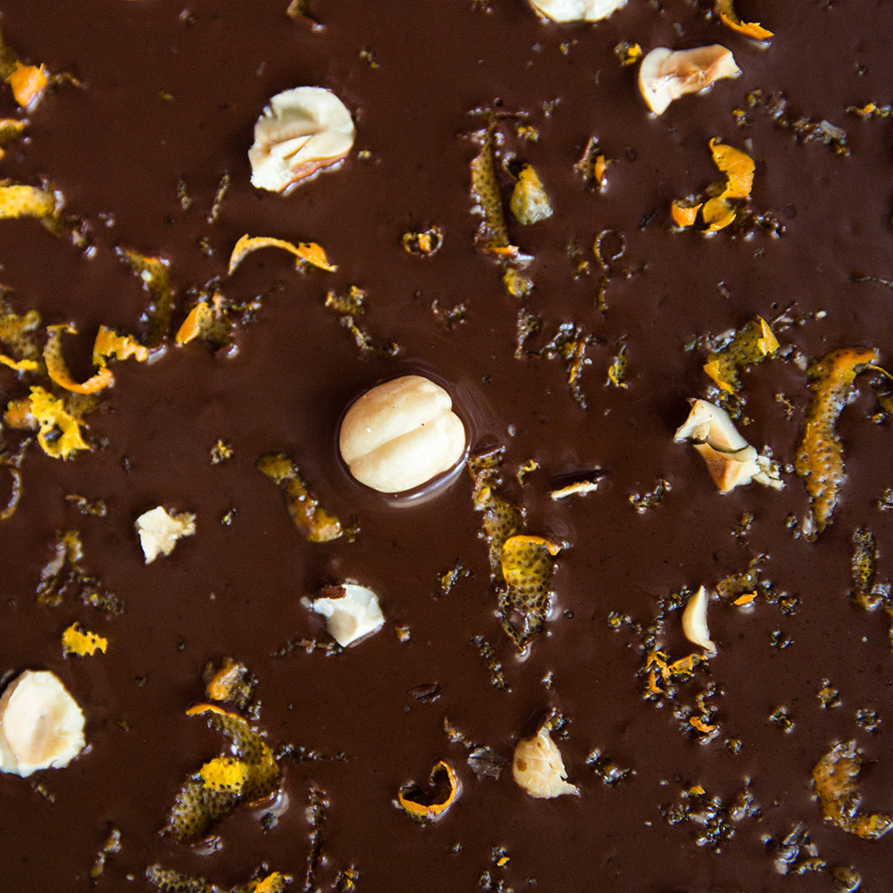 Spread it thin: Pour chocolate-orange mixture into a 13 x 9-inch ...