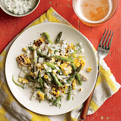 Sweet crab and even sweeter corn get extra-delicious when paired with tarragon and cream. Photography: Randy Mayor; Food Styling: Kellie Gerber Kelley; Prop Styling: Lindsey Lower