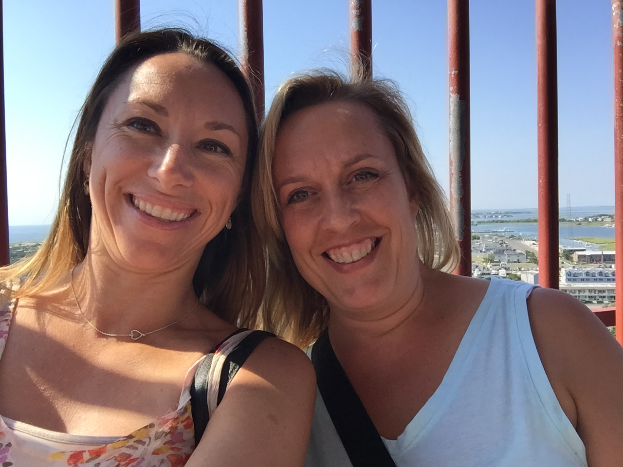 Michelle McBurney (left) with her friend.