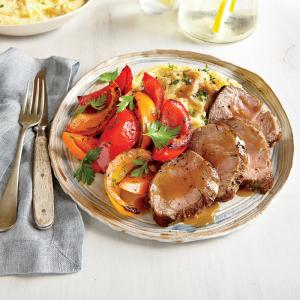 FOR EASY CLEANUP: Pan-Roasted Pork Tenderloin and Peppers . It all ...