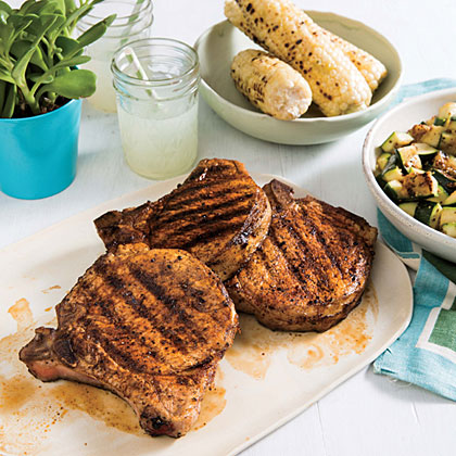 1. Paprika Pork Chops with Zucchini and Corn with Lime: True to summertime tradition, this meal is made entirely on the grill. Spiced and juicy pork chops with drool-worthy grill marks, pairs with seasonal zucchini and zesty corn (on the cobb, of course). Find this recipe, along with four more fast weeknight meals, by downloading a free sample of the tablet edition.
