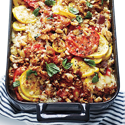 Tomato, Squash, and Red Pepper Gratin: This popular dish on Pinterest says it all: we're counting down the days until tomato season.