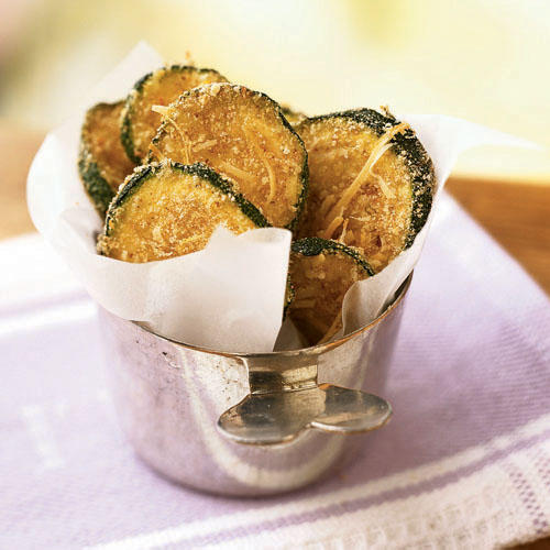 1. Zucchini Oven Chips: Celebrate the unofficial start of summer with zucchini. These crispy oven-baked chips taste like they're fried.
