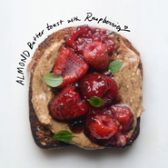 Almond Butter Toast with Raspberries