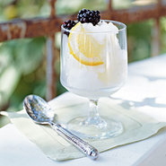 Limoncello-Mint Sorbet with Fresh Blackberries