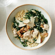 Kale Caesar Quinoa Salad with Roasted Chicken