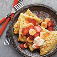 Strawberry-Banana Crepes recipe