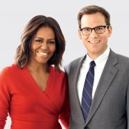 Hunter Lewis with Michelle Obama