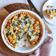 Butternut Squash and Swiss Chard Tart with Olive Oil Crust