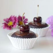 Chocolate Cherry Cupcakes for Two