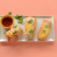 Spicy Sambal Chicken and Pineapple Spring Rolls