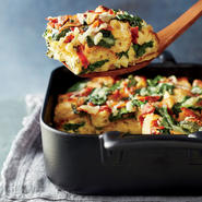 Spinach, Bacon, and Gruyère Breakfast Strata