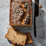 Chocolate-Tahini Banana Bread
