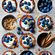 Granola Cups with Yogurt and Berries