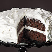 Chocolate Cake with Fluffy Frosting