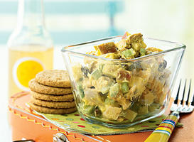Curried Chicken Salad with Apples and Raisins