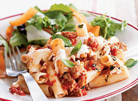 Baked Pasta with Sausage, Tomatoes, and Cheese Recipe