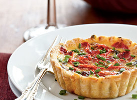 Mushroom and Roasted Pepper Tarts