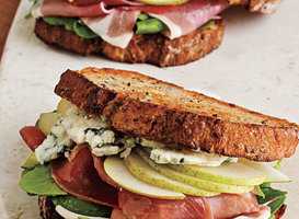 Prosciutto, Pear, and Blue Cheese Sandwiches