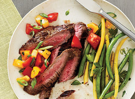 Peppered Flank Steak and Salsa Recipe