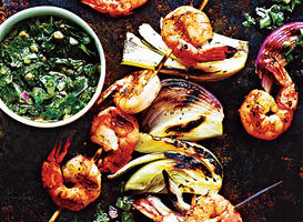 How to Grill Shrimp Kebabs