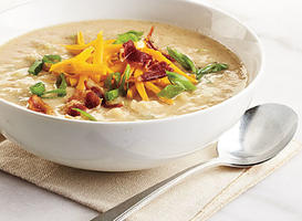 Less-Loaded Potato Soup: Recipe Makeover