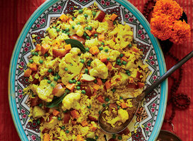 Tahiree Vegetable and Rice Casserole