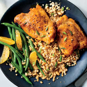 How to Make Tangy-Sweet Glazed Chicken with Couscous