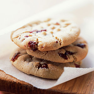 Macadamia Butter Cookies with Dried Cranberries - Recipes