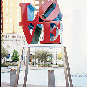 Robert Indiana's LOVE statue captures the city's spirit.