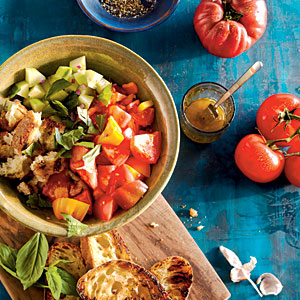 Pita Salad with Tomatoes, Cucumber, and Herbs - Bread Salads | Cooking ...