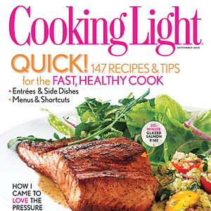 Cooking Light September 2010 Cover