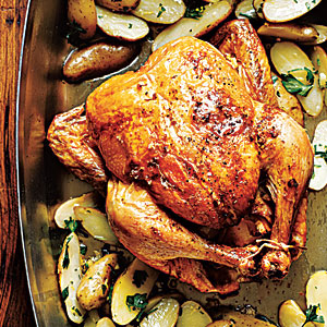 Roasted Lemon-Garlic Chicken with Potatoes