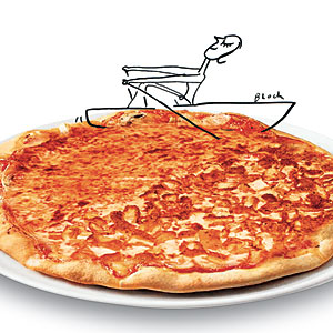 Navigating Pizza Menu Illustration