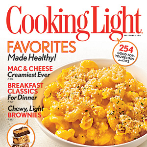 Cooking Light September 2011 Cover