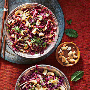 Cashew, Coconut, and Cabbage Slaw Recipe - Cooking Light