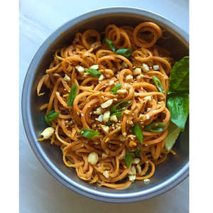 How to Make Sweet Potato Noodles with Peanut Sauce