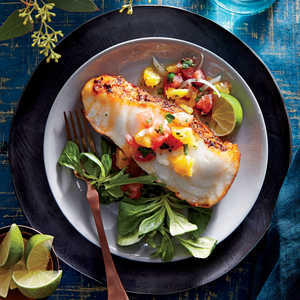 How to Make Sea Bass with Citrus Salsa
