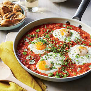 How to Make Saucy Skillet Poached Eggs