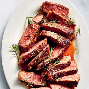 Garlicky New York Strip Steak Recipe - Cooking Light