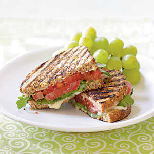Grilled Tomato and Brie Sandwiches Vegetarian Recipe