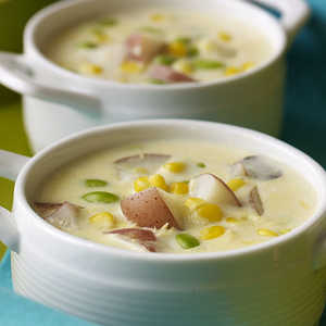 Quick Corn and Edamame Chowder Recipes